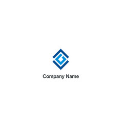 square abstract geometry construction logo vector image