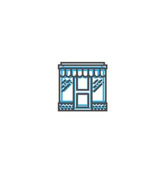 store icon line design business icon vector image