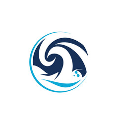 swimming training winner vector image