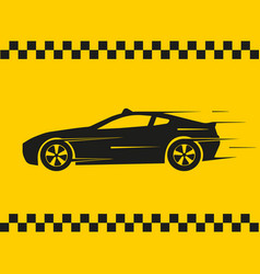 taxi logo on yellow vector image