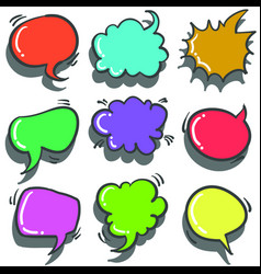 Text balloon colorful vector