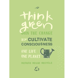 Think Green vector image vector image