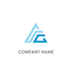 triangle line delta colored logo vector image