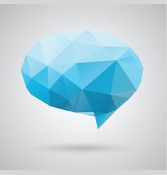 triangle speech clouds - triangular vector image
