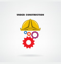 Under construction conceptual background vector