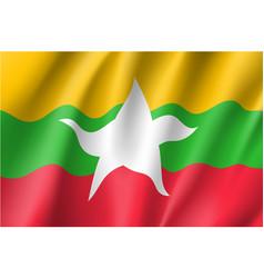 Union of myanmar or burma flag vector