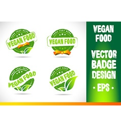 Vegan food Badge Logo vector