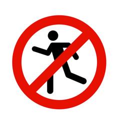 Walk pedestrian restricted access entry man vector