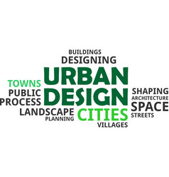 Word cloud - urban design vector