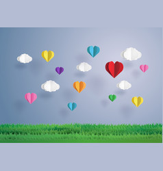 balloon in a heart shape vector image vector image