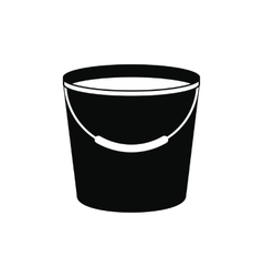 Bucket full of water icon vector image vector image