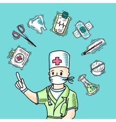 Medical Design Concept vector image vector image