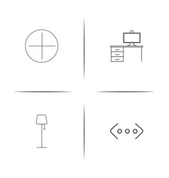 Internet technologies simple linear icon vector