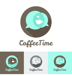 modern flat coffee shop cafe or restaurant logo vector image