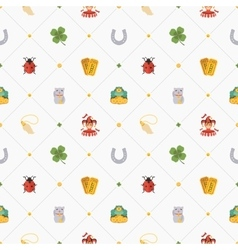 Seamless pattern with Lucky Charms vector image