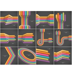 Set of colorful lines backgrounds vector image vector image
