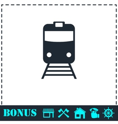 Train icon flat vector image