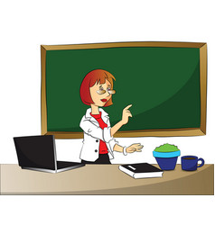 curious businesswoman pointing vector image vector image