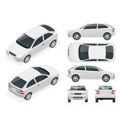 set of sedan cars vector image vector image