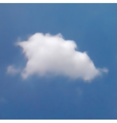 White cloud in the blue sky vector image