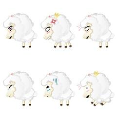 Cute Chibi Sheep vector image vector image