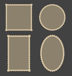 frame blank postage stamps set for frame vector image vector image