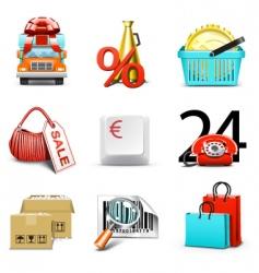 shopping icons | bella series vector image vector image
