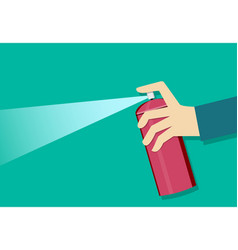 a man holding a spray can and use it art vector image