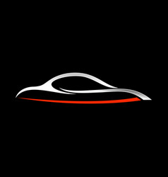 abstract custom car shape lines symbol vector image vector image