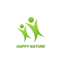 Abstract eco green logo vector