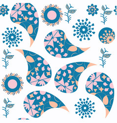 abstract paisley seamless pattern it is located vector image