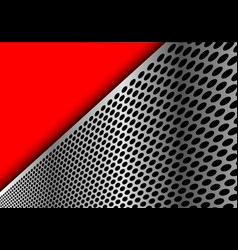 abstract silver circle mesh triangle red modern vector image