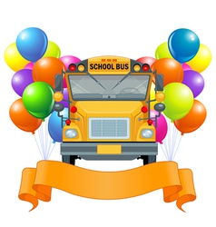 American school bus vector image