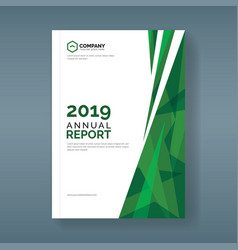 annual report template with abstract green vector image