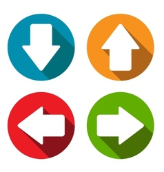 Arrows flat set vector image