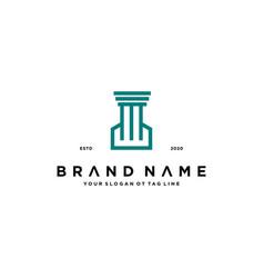 Attorney logo design vector