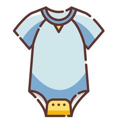 baby bodysuit linecolor vector image