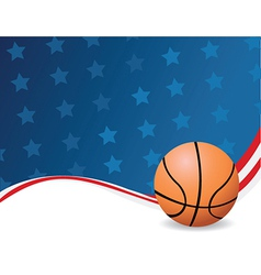 Basketball background with stars vector