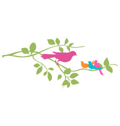 bird on a tree branch vector image