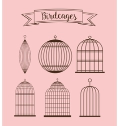 Birdcages icon Decoration object vintage concept vector image