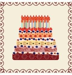 Birthday cake thirty years vector image