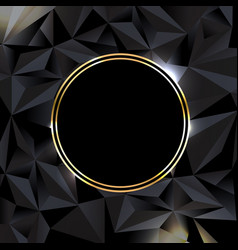 Black background with ball gold banner vector