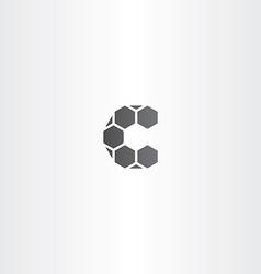 Black letter c sign logo vector