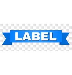 Blue stripe with label caption vector
