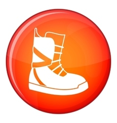 Boot for snowboarding icon flat style vector