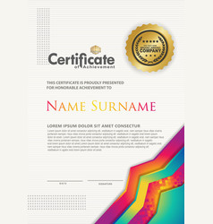 Certificate template with luxury and texture vector