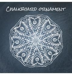 Chalkboard ornament vector