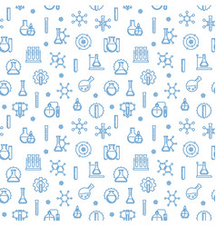 chemistry seamless pattern with chemical vector image
