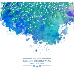 Christmas Watercolor Background vector