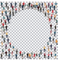 Circle people sign 3d vector